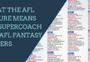 What the AFL fixture means for SuperCoach and AFL Fantasy players