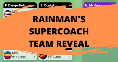 Rainman's SuperCoach Team Reveal