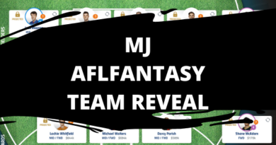 MJ's AFLFantasy Team Reveal