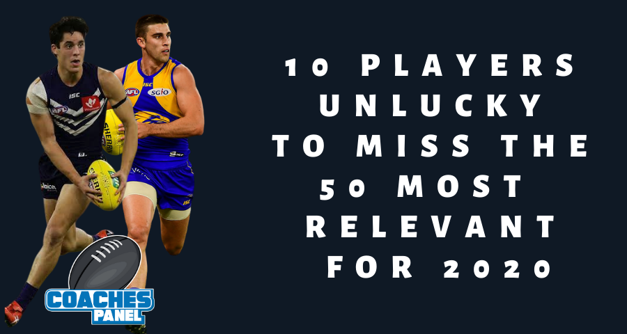 10 Players Unlucky to Miss the 50 Most Relevant for 2020