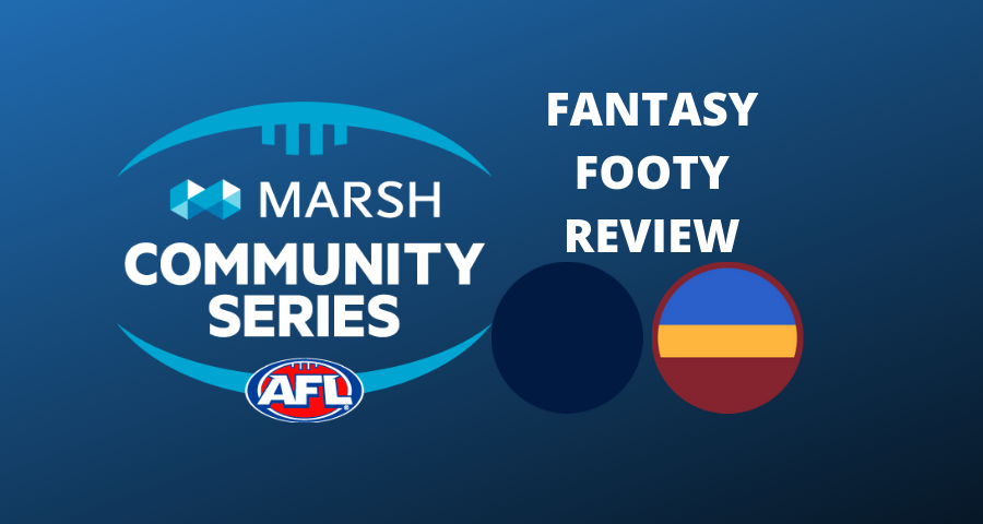 Marsh Community Series Review | Blues Vs Lions