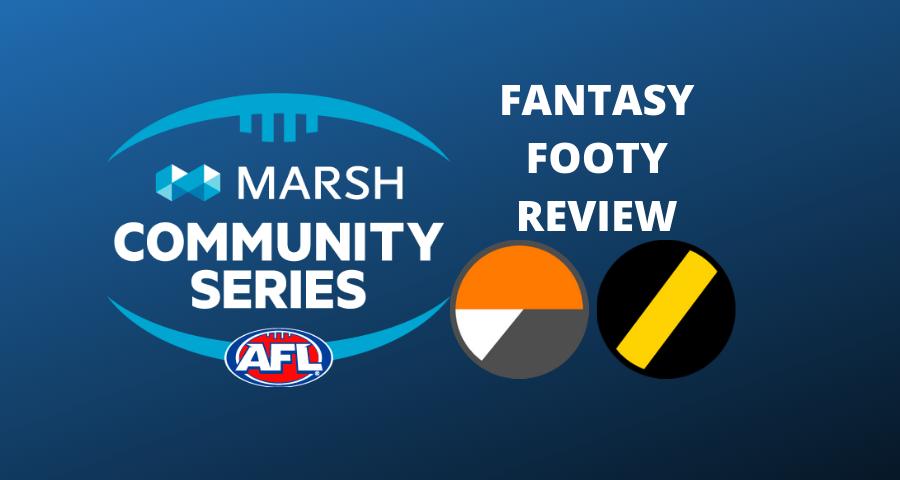 Marsh Community Series Review | Giants Vs Tigers