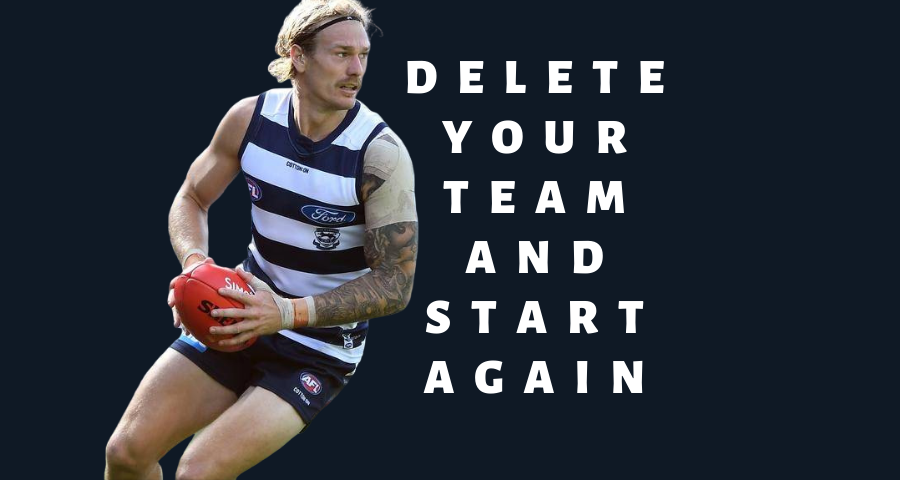 Delete Your Team And Start Again