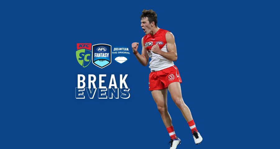 AFLFANTASY BREAKEVENS | ROUND ONE