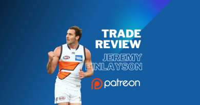 AFL Trade Review | Jeremy Finlayson | Patreon Exclusive